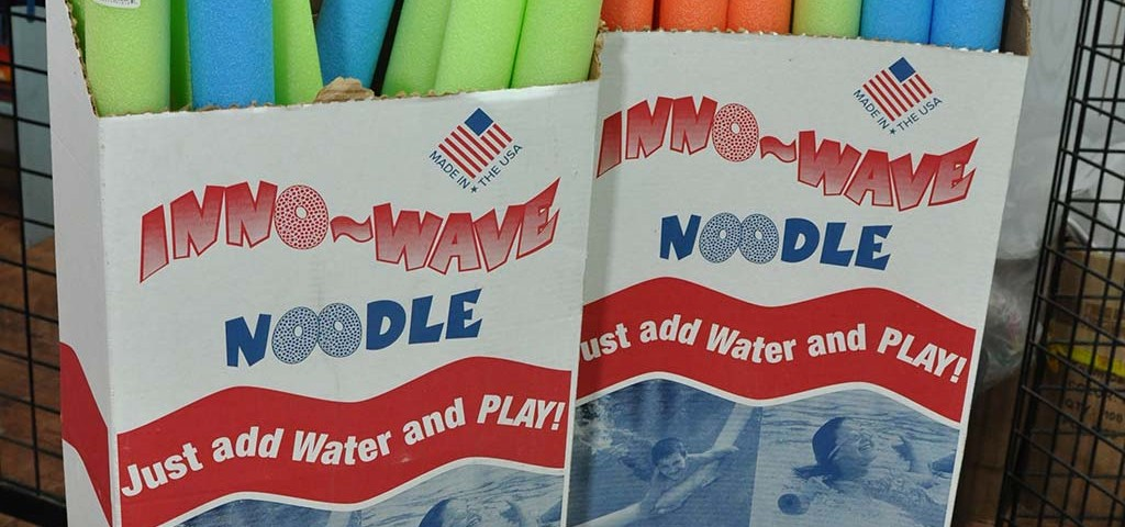 noodles available for sea fun at trellis bay gift shop