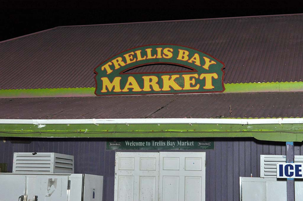 Trellis Bay Market Entrance