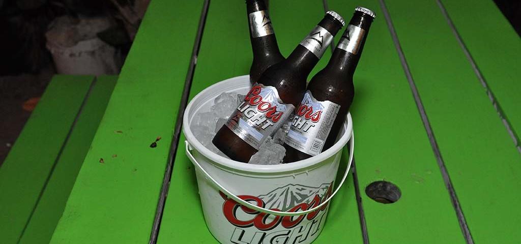 coors light bucket available at trellis bay market