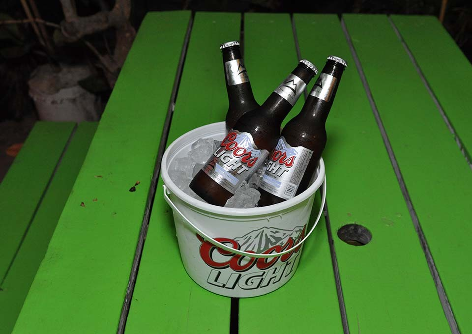 coors light bucket available at trellis bay market