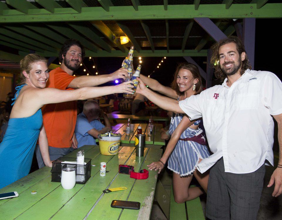 carib specials at cheers at vybez & chill at trellis bay market