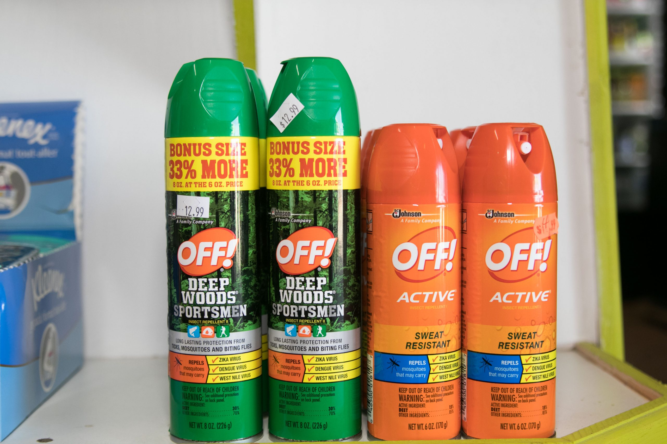 spray repellent at trellis bay market