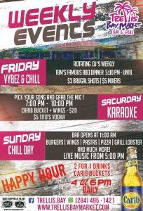 weekly events trellis bay market