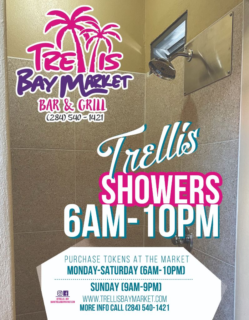 Trellis Bay Showers Trellis Bay Beef Island BVI